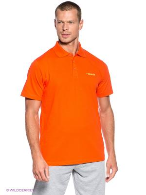 Футболка-поло Club Men Bjorn Poloshirt Button HEAD. Цвет: оранжевый