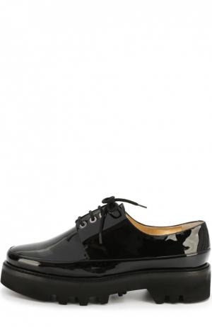 Лаковые ботинки Dingo на шнуровке Walter Steiger. Цвет: черный