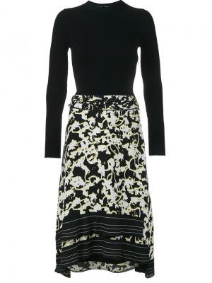 Расклешенное платье Proenza Schouler. Цвет: чёрный