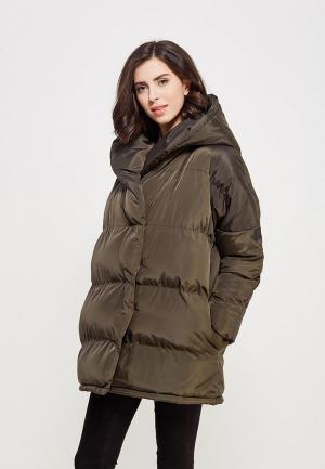 Куртка утепленная PaperMint. Цвет: хаки