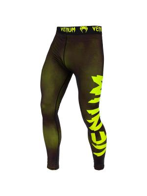 Тайтсы Venum Giant Black/Yellow. Цвет: черный, зеленый
