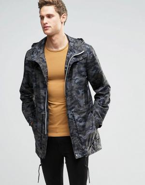 Parka London Камуфляжная куртка Soren. Цвет: зеленый