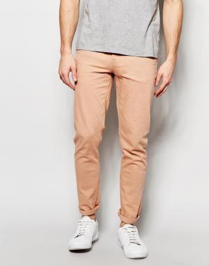ASOS Облегающие джинсы розового цвета. Цвет: розовый