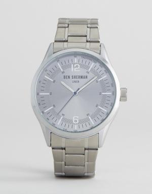 Ben Sherman Серебристые часы-браслет. Цвет: серебряный