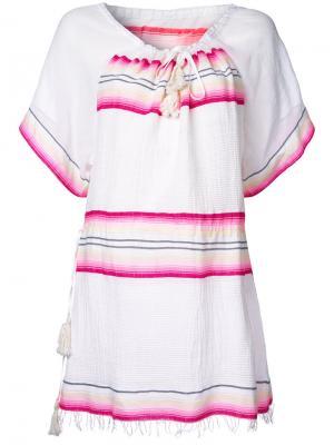 Блузка в полоску Lemlem. Цвет: белый
