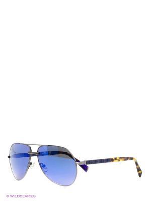 Солнцезащитные очки BLD 1518 103 Baldinini. Цвет: синий, серый