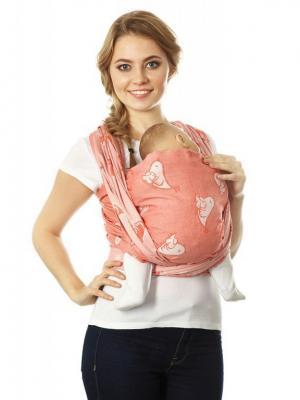 Слинг-шарф Птички Mum`s Era. Цвет: молочный, оранжевый, рыжий