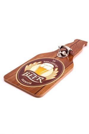 Открыватель для бутылок Русские подарки. Цвет: коричневый, желтый, белый