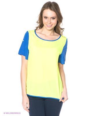 Блузка Neohit. Цвет: желтый, синий
