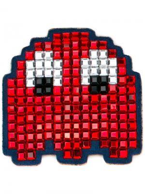 Нашивка на сумку Space Invaders Anya Hindmarch. Цвет: красный