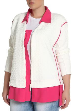 Жакет EVA Collection. Цвет: бело-розовый