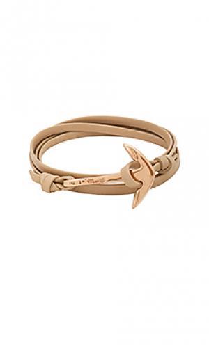 Браслет leather anchor Miansai. Цвет: металлический медный