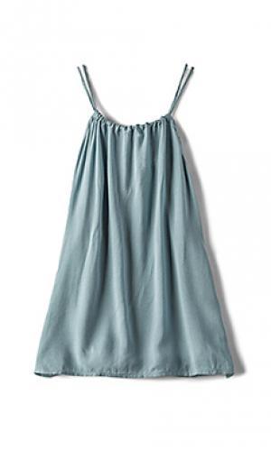 Мини платье capri Acacia Swimwear. Цвет: синий