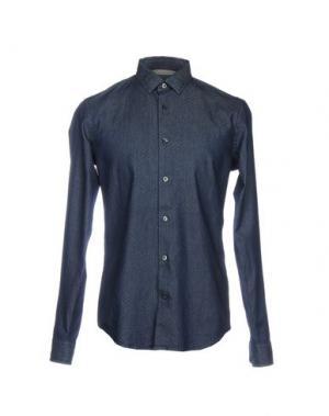 Джинсовая рубашка VINCE.. Цвет: синий