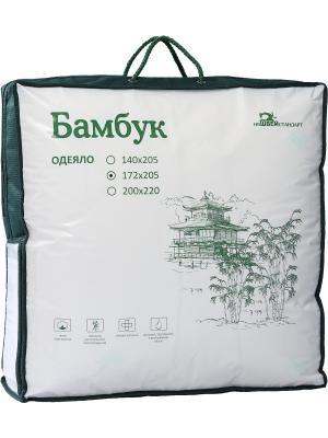 Одеяло БАМБУК ИвШвейСтандарт. Цвет: сливовый, белый, зеленый