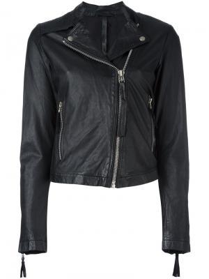 Байкерская куртка Barbara I Gongini. Цвет: чёрный
