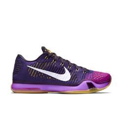 Мужские баскетбольные кроссовки Kobe X Elite Low Nike. Цвет: пурпурный