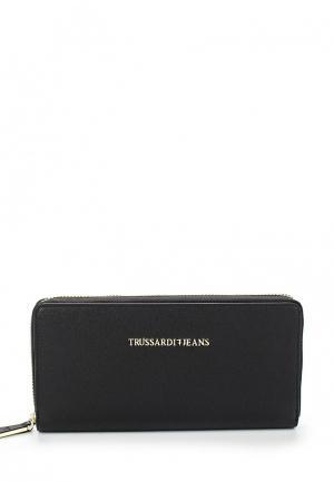Кошелек Trussardi Jeans. Цвет: черный