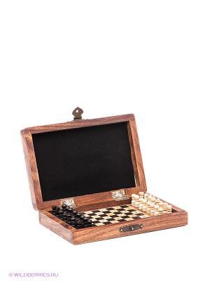 Шахматы дорожные Экспедиция. Цвет: коричневый