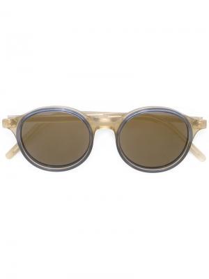 Солнцезащитные очки в круглой оправе Tomas Maier Eyewear. Цвет: none