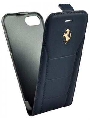 Чехол для iPhone 7 488 (Gold) Flip Leather Blue FERRARI. Цвет: синий