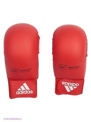 Накладки для карате WKF Bigger Adidas. Цвет: красный
