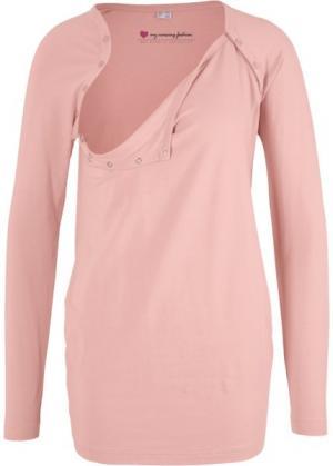 Футболка для беременных с функцией кормления (винтажно-розовый) bonprix. Цвет: винтажно-розовый