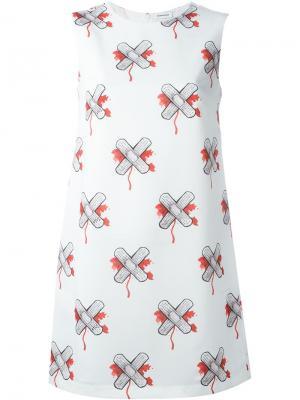 Платье шифт Au Jour Le. Цвет: белый