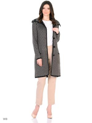 Пальто вязаное MILANIKA. Цвет: бежевый