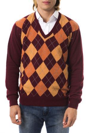 Пуловер UominItaliani. Цвет: bordeaux, orange, yellow