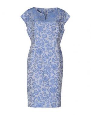 Платье до колена EMISPHERE. Цвет: пастельно-синий