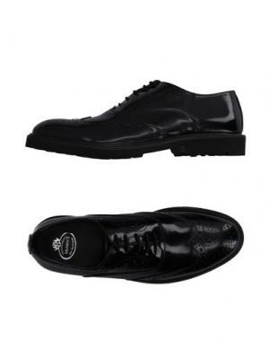 Обувь на шнурках BRAWN'S. Цвет: черный