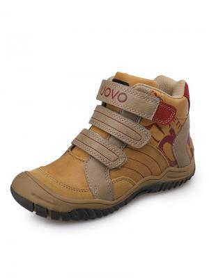 Ботинки детские UOVO. Цвет: светло-коричневый, бежевый