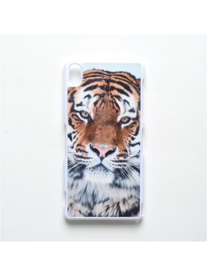 Чехол для Sony Xperia Z3 Тигр Boom Case. Цвет: черный, белый, персиковый
