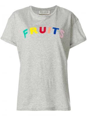 Футболка Fruits Être Cécile. Цвет: серый