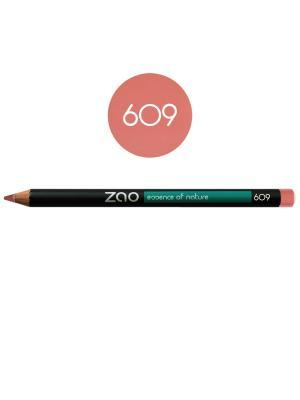 Zao карандаш для глаз, бровей, губ 609 (благородный розовый) (1,14 г). Цвет: розовый