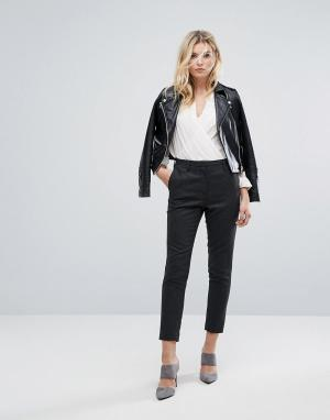 Selected Шерстяные брюки. Цвет: серый