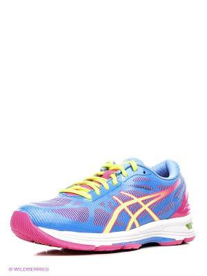 Беговые  кроссовки Gel-Ds Trainer 20 ASICS. Цвет: голубой, розовый, желтый