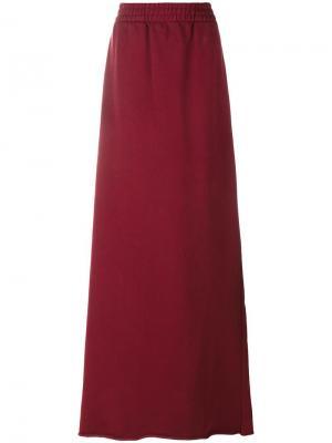 Трикотажная юбка Vetements. Цвет: красный