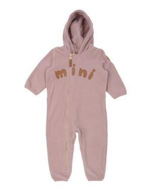 Детский комбинезон MINI RODINI. Цвет: пастельно-розовый