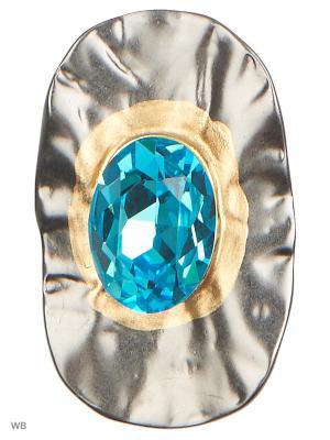 Брошь L'Art Bijoux. Цвет: голубой