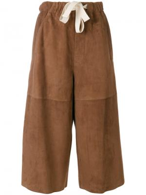 Кюлоты со шнурком Loewe. Цвет: коричневый