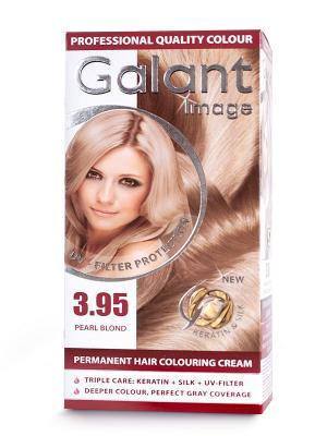 Cтойкая крем-краска для волос  GALANT 3.95 жемчужный блондин, 125 мл., (Болгария) Image. Цвет: кремовый