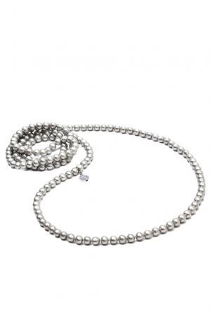 Ожерелье 123131 Nasonpearl. Цвет: серый