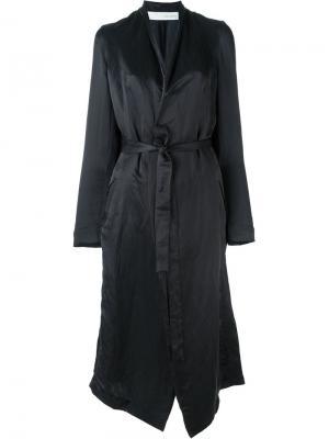 Атласное пальто Isabel Benenato. Цвет: чёрный