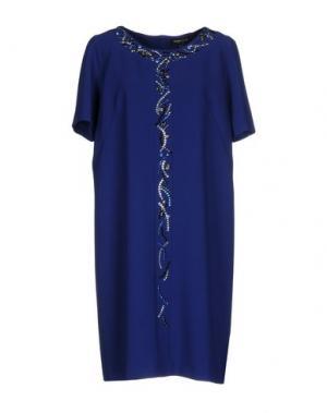 Платье до колена CHIARA D'ESTE. Цвет: синий