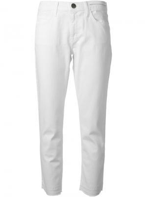 Укороченные джинсы Current/Elliott. Цвет: белый