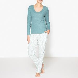 Пижама с рисунком La Redoute Collections. Цвет: сине-зеленый