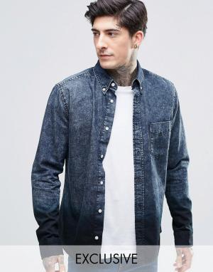 Brooklyn Supply Co. Рубашка цвета индиго с эффектом деграде Co. Цвет: темно-синий