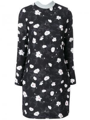 Платье с цветочным принтом Carven. Цвет: чёрный